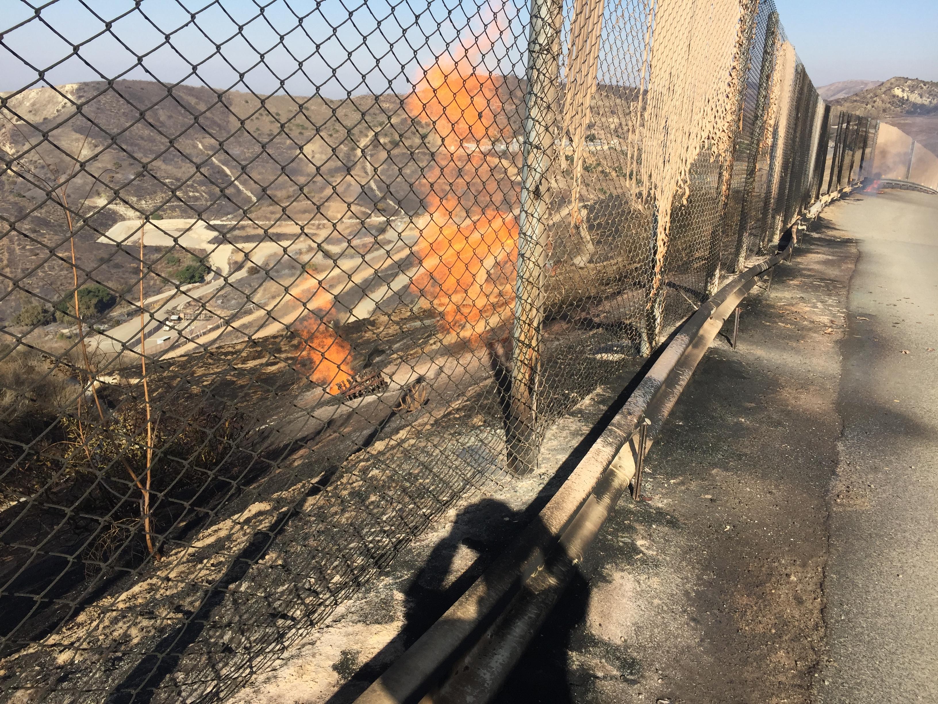 Silverado Fire at Frank R. Bowerman Landfill